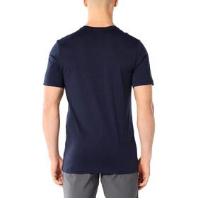 Icebreaker Tech Lite K2 Crest T-shirt Col ras-du-cou Homme, midnight navy
